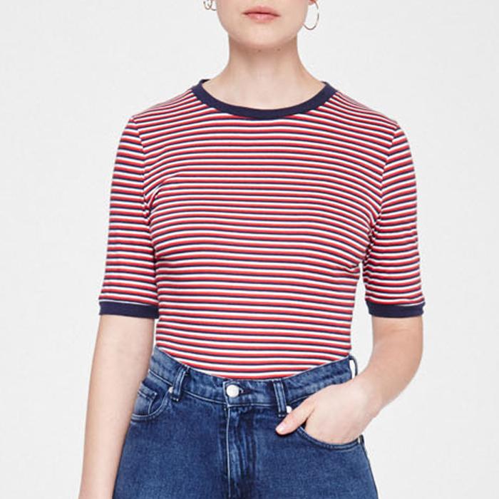 Emma Triple Stripes  - Red Scarlet