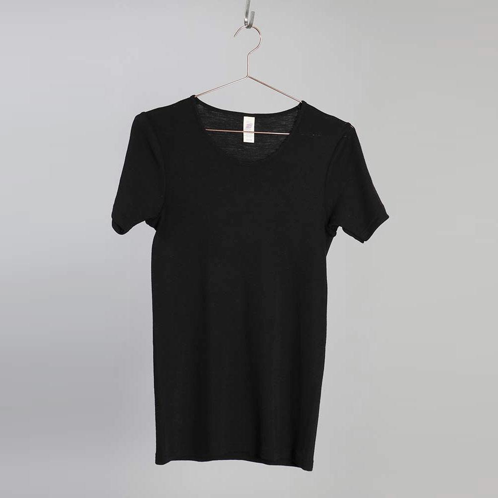 Merino Silk T-shirt HERR - Svart