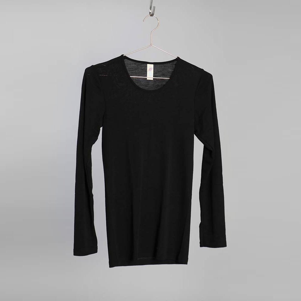 Merino Silk Sweater DAM - Svart