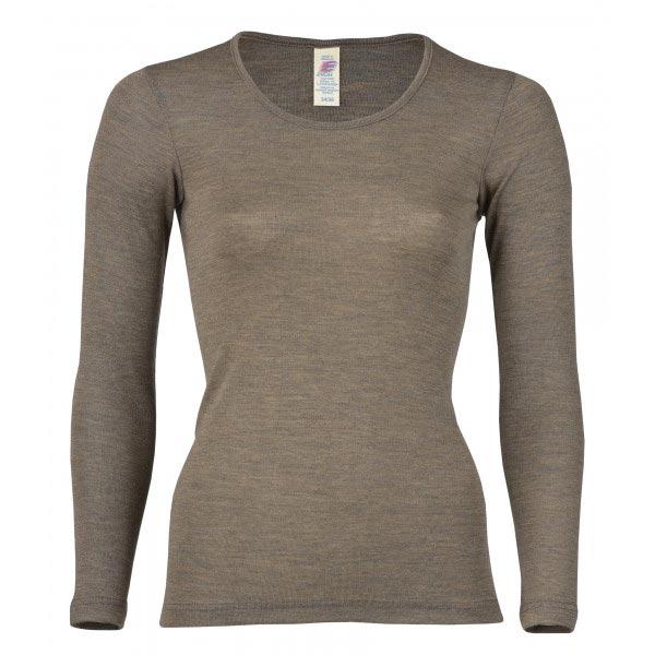 Merino Silk Sweater DAM - Valnöt