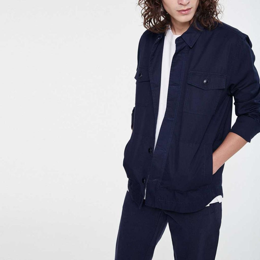 Overshirt Jacket - Navy