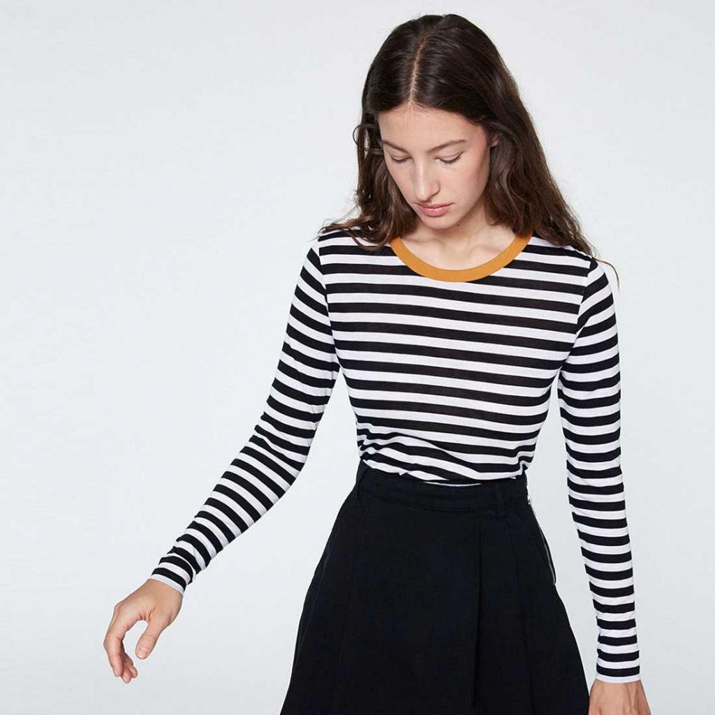 Lara Bold Stripes - Black White