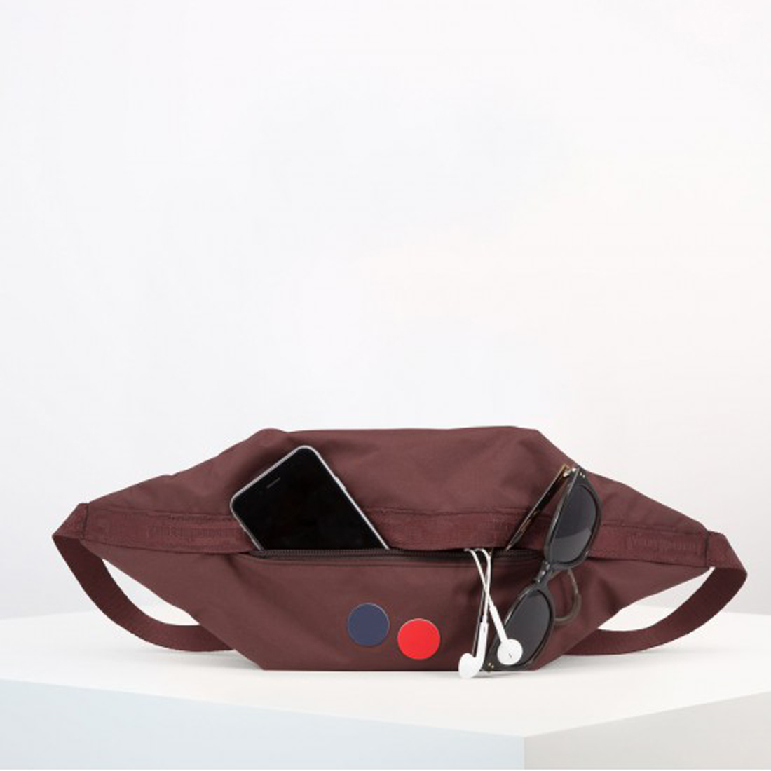 brik maple maroon hip bag
