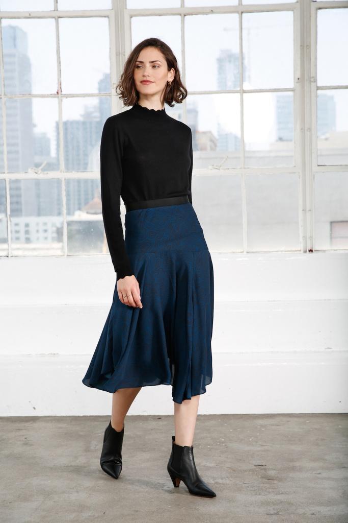 Maggie Midi Skirt - Frogfish Print