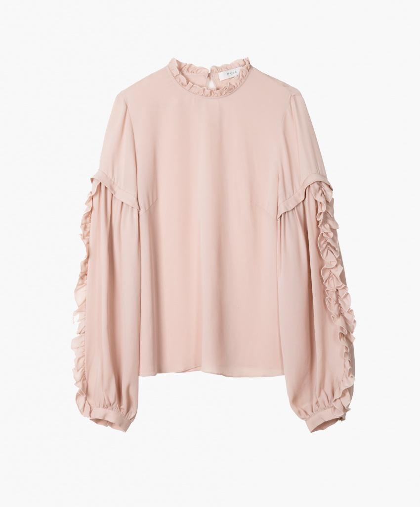 eb315197b947b Valeria Blouse - Shop Rose Frill Sleeve Blouse