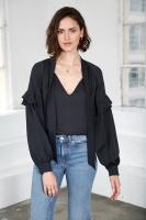 Eloise Sidenblus – Marinblå