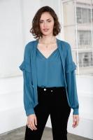 Eloise Sidenblus – Blå