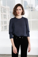Emmy Silk Blouse – Dark Navy