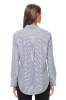 Randig bomullsskjorta