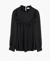 Daria silk blouse black