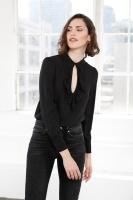 Nico silk blouse black
