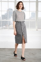 Stacey Denim Skirt - Grey