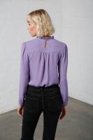 Alina sidenblus violett
