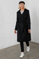 Ava trench coat black