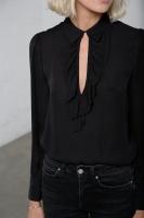Nico sidenblus svart