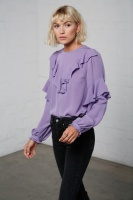 Vivianne sidenblus violett