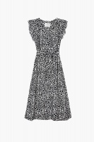 Margot Dress - Black Leo print