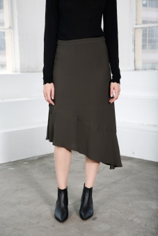 Dani Midi Skirt - Moss Green