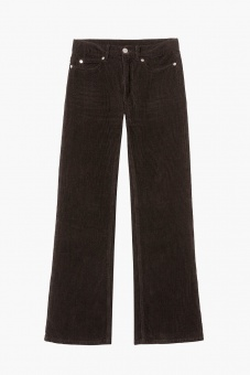Elsa Corduroy Pants - Dark Brown