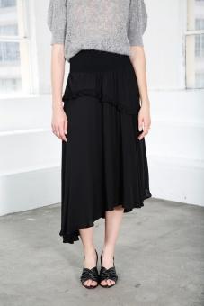 Leoni Midi Skirt – Black