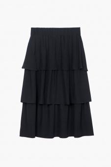 Ariana Midi Skirt - Dark Navy