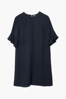 Isa Sidenklänning - Dark Navy