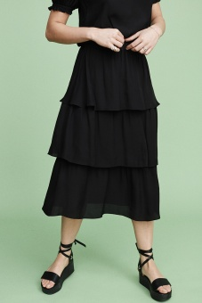Ariana Midi Skirt - Black