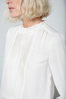 Alina sidenblus crème