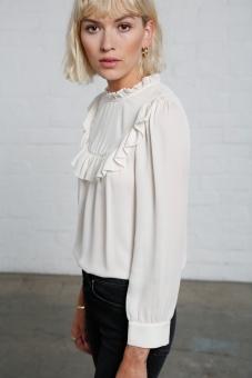 Daria silk blouse cream
