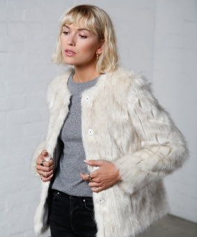 Faux fur white