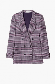 Checked blazer purple