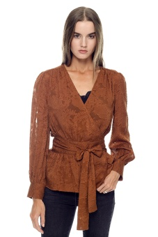 Lily omlottblus brun