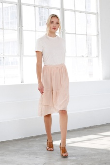Julia Midi Skirt - Blush