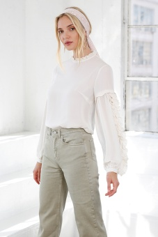 Valeria Silk Blouse - Crème