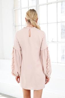 Valeria Silk Dress - Rose