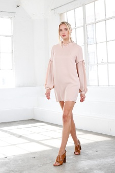 Valeria Silk Dress - Rose