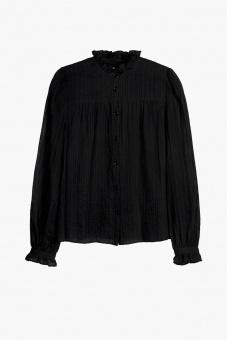Joni Embroidery Blouse – Black