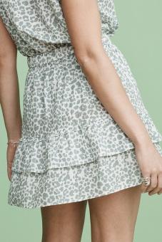 Lana Skirt - Green Leo print