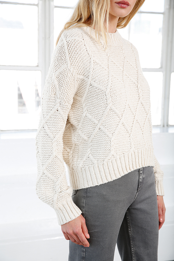 5f4d02c20db9d8 Aria Cable Knit Sweater - Shop Cream Cable Knit Sweaters ...