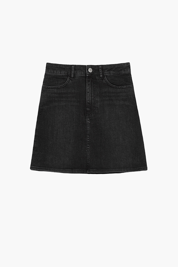 Sid Denim Skirt - Vintage Black