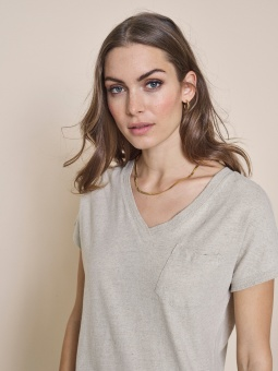 MOSMOSH Maya V-neck Top