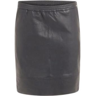 Leather Kjol - Dark Blue