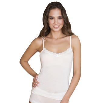Lady Avenue Silk Jersey Spetslinne Camisole w.lace