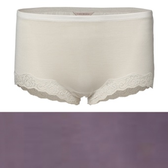 Lady Avenue Silk Jersey Boxertrosa Panty w.lace