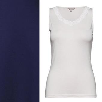 Lady Avenue Silk Jersey Linne- Top W.Lace