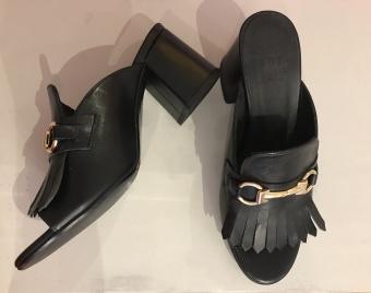 BilliBi Black calf 80 Sandals