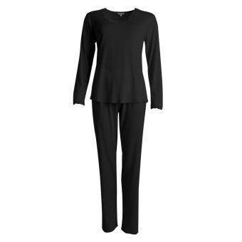 Lady Avenue Silk Jersey Pyjamas Lång Ärm