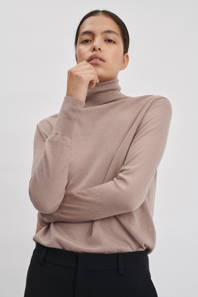 FILIPPA K Tröja, Silk Mix Roller neck Sweater