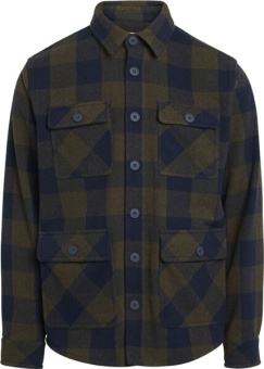 Knowledge Cotton Overshirt Pine wool