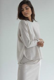 DAVIDA Tröja, Curved Sweater